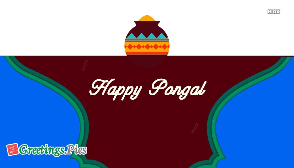 Happy Pongal Tamil Festival Greeting Image