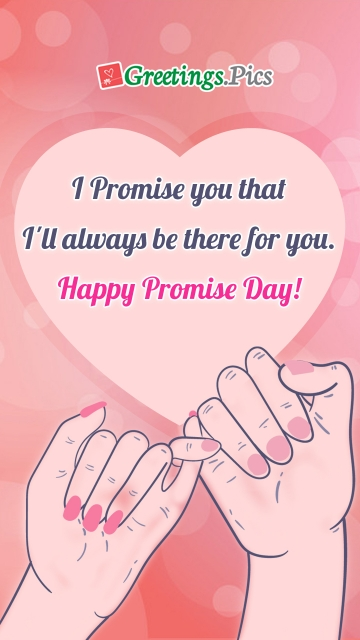 I Promise You That I