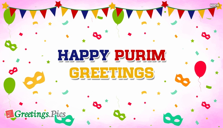 Happy Purim Greetings