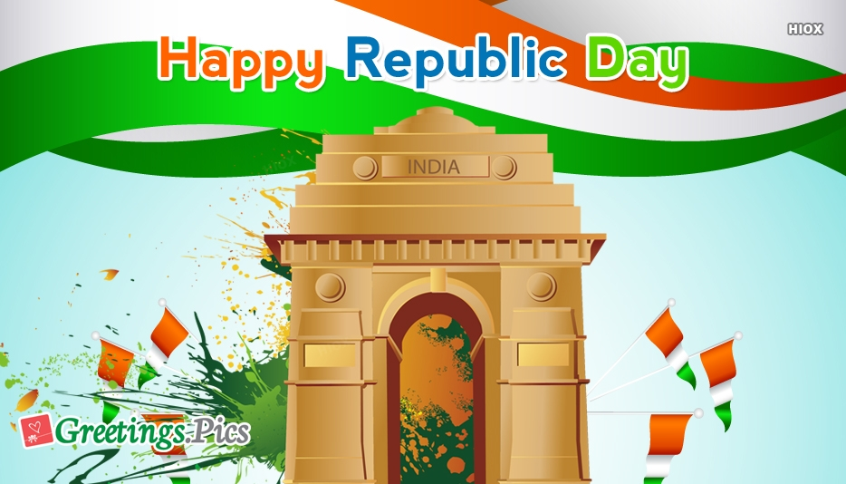 Republic Day Greeting Image for Download