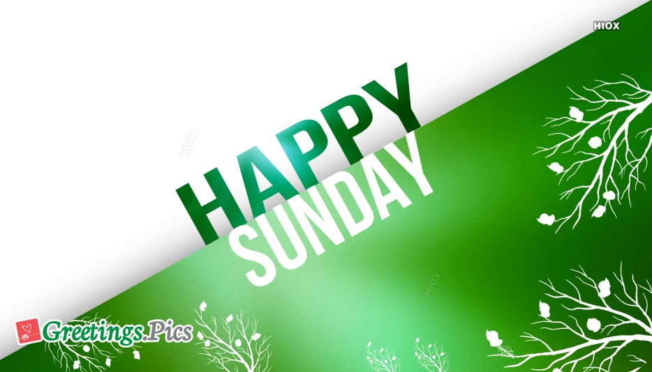 Sunday Greetings Images