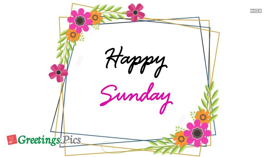 Happy Sunday Hd Beautiful Wallpaper