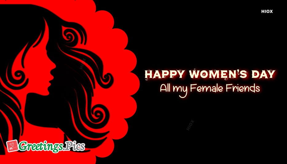 happy womens day friends
