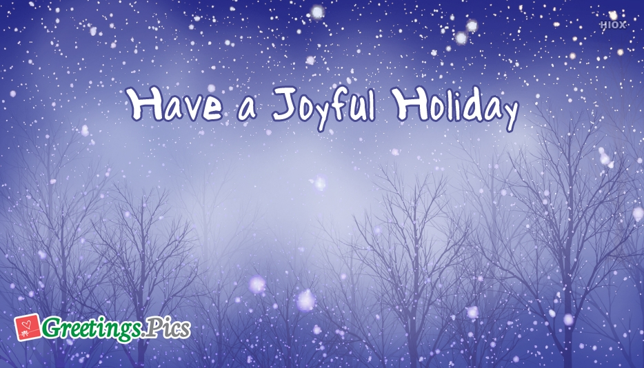 Happy Holiday Greeting Messages