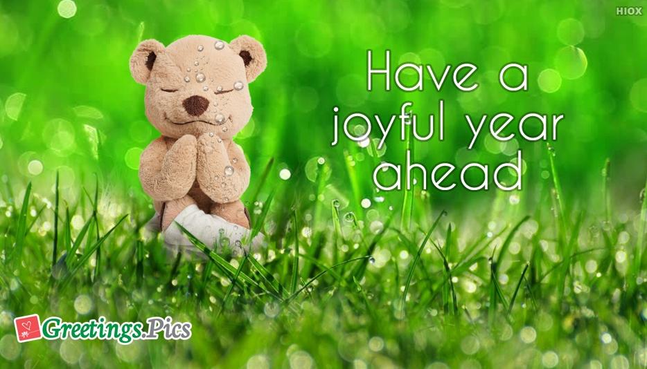 Have A Joyful Year Ahead