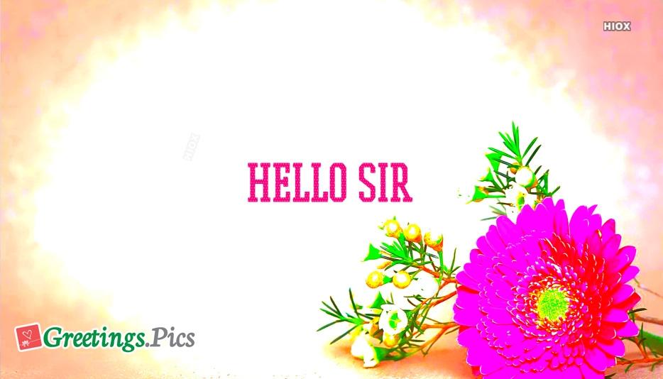 Hello Greetings