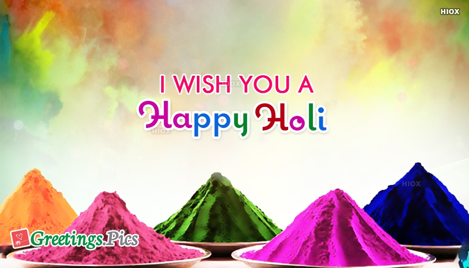 Happy Holi Greetings Wishes Images