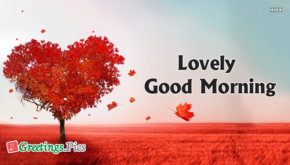 Lovely Good Morning Greetings, Images
