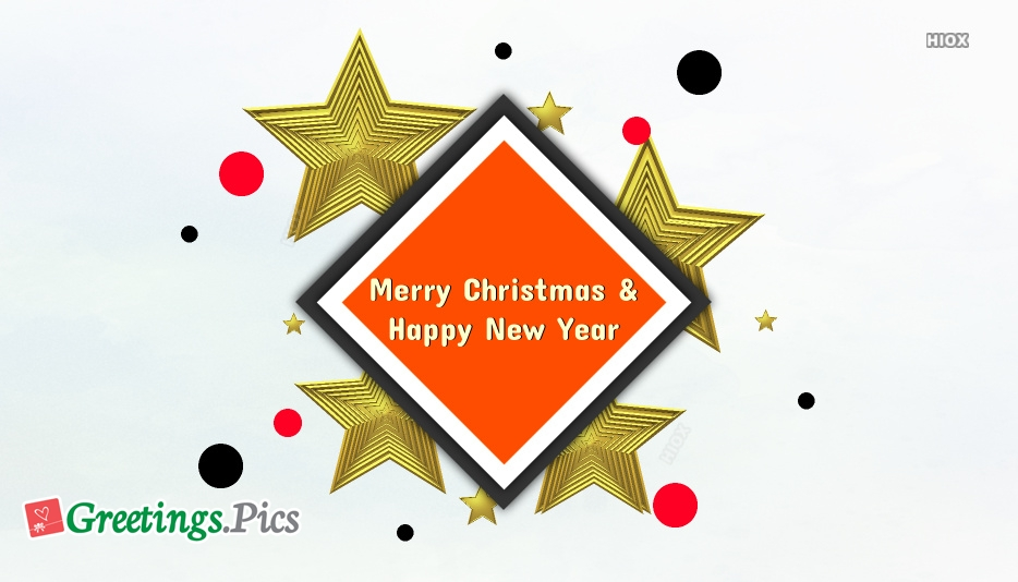 Merry Christmas and Happy New Year Banner Clipart