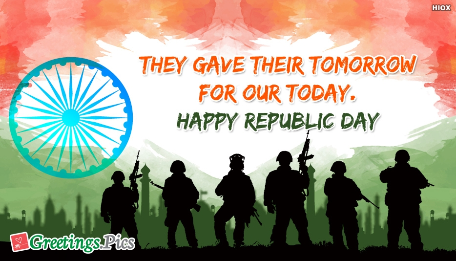 Soldiers Gave Their Tomorrow FOR OUR TODAY.