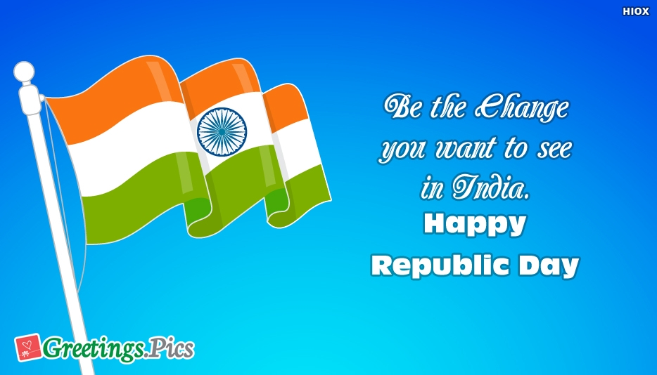 Republic Day Wishes With Indian Flag
