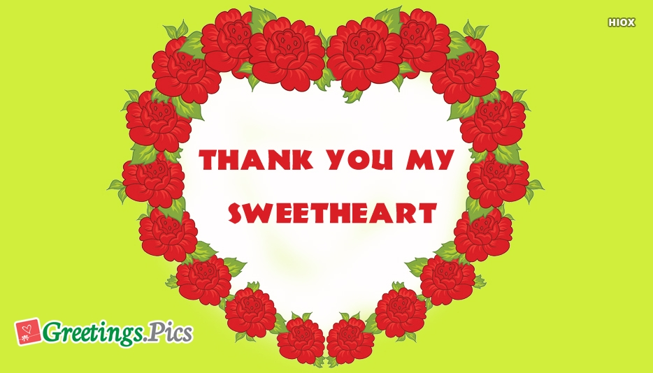 Thank You My Sweetheart Wallpaper