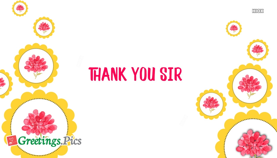 Thanks You Sir