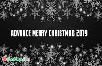 Advance Merry Christmas 2019