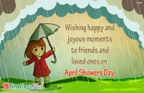 April Showers Day Wishes Image