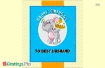 Birthday Greetings To The Best Husband