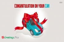 Congratulation On Your Car
