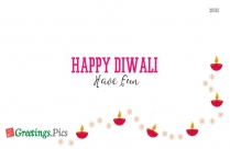 Happy Diwali Greetings Message