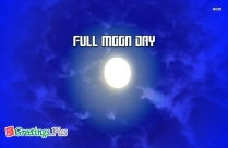 Full Moon Day Wishes