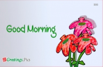 Good Morning Flowers Greetings