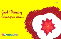 Morning Inspirational Greetings Picture