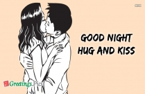 Good Night With Hug And Kiss