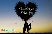 Good Night With I Love You Image