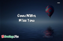 Good Night With Miss You