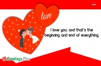 I Love You Romantic Greetings for Lover