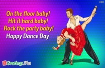Happy Dance Day Wishes Greetings