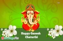Happy Ganesh Chaturthi Greeting Image