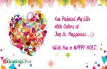 Happy Holi Love Sms