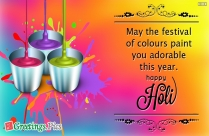 Cheer Up! It's Holi. Have A Great Fun