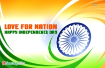 Love For The Nation On Independence Day