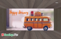 Happy Journey Greetings Cards