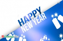 Happy New Year Greeting Card Drawing