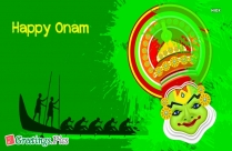 Happy Onam Green