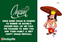 Greetings For Onam Festival