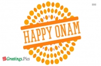 Happy Onam Husband