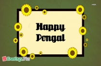 Happy Pongal to Family Tamil Festival Greeting Image