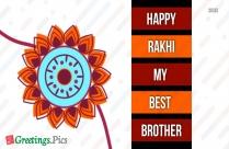 Happy Rakhi My Best Brother Greeting Image
