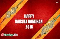 Happy Raksha Bandhan Brother And Sister