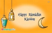 Happy Ramadan Greeting Wallpaper