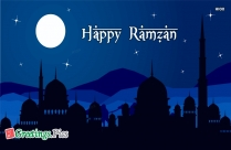 Happy Ramzan In Advance Greeting Card