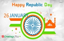 Happy January 26 Republic Day Greeting Image