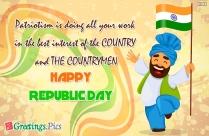 Happy Republic Day Patriotic Wish