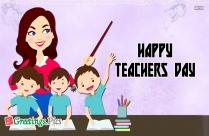 happy teachers day greeting card design