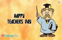 happy teachers day greeting card decoration