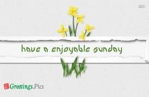 Have A Enjoyable Sunday Image
