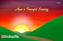 Greetings For Evening